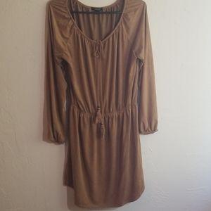 Boho faux suede dress